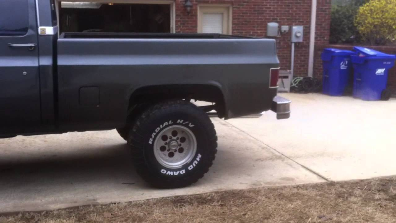 small resolution of 1981 chevy k10 idling walk around and interior