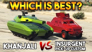GTA 5 ONLINE : KHANJALI VS INSURGENT PICK UP CUSTOM (WHICH IS BEST ?)