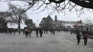 White! Snowing in Shimla. Snow on The Mall.