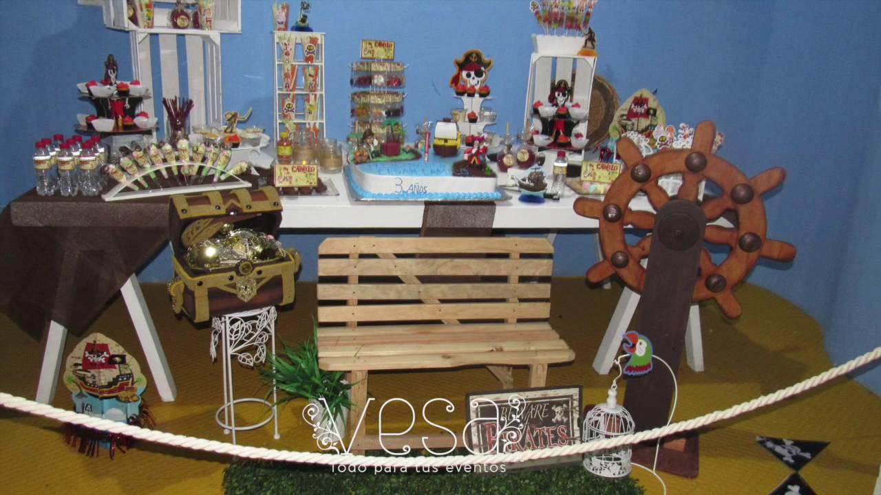 Fiesta jack y los piratas mesa de postres dulces for Decoracion para mesa dulce