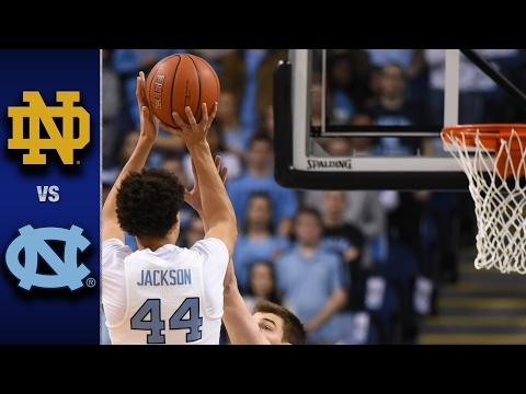 Notre Dame vs. North Carolina Men's Basketball Highlights (2016-17)
