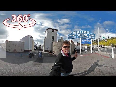 Morning Walk On The Malibu Pier in 360 Virtual Reality-VR