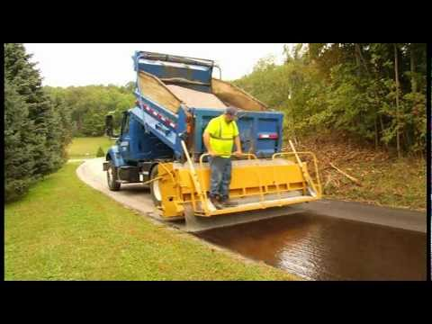 R 1 Aggregate Chip Spreader On Road Youtube
