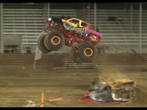 Rockstar(freestyle winner) &Cal. Kid dual freestyle @Monster Truck Insanity Tour 2015