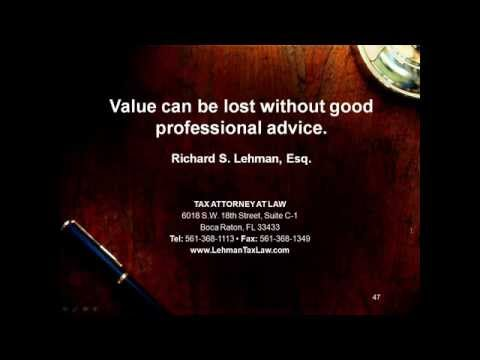 The IRS Offshore Voluntary Disclosure Program - Richard S Lehman, Esq., explains the updates