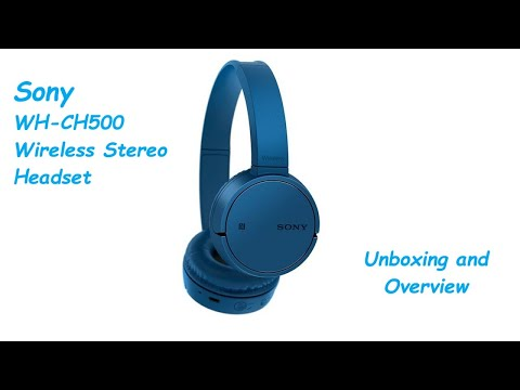 Sony WH-CH500 Google Assistant enabled Bluetooth Headset with Mic (Blue, On  the Ear) Unboxing