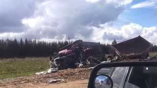 Авария на трассе м-5 под Иглино.