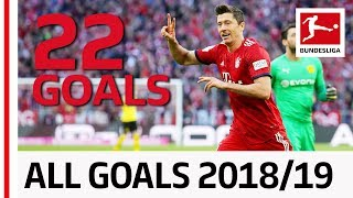 All Goals Robert Lewandowski 2018/19