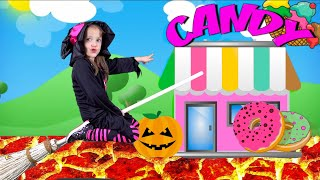 Ksysha go to Shopping (Halloween) Let's go shopping song for Kids