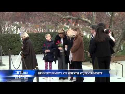Kennedy Family Lays Wreath At JFK Gravesite
