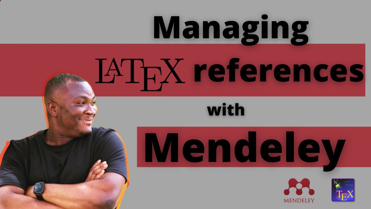 How to use Mendeley to automatically manage and sync Latex/BibTeX references - YouTube