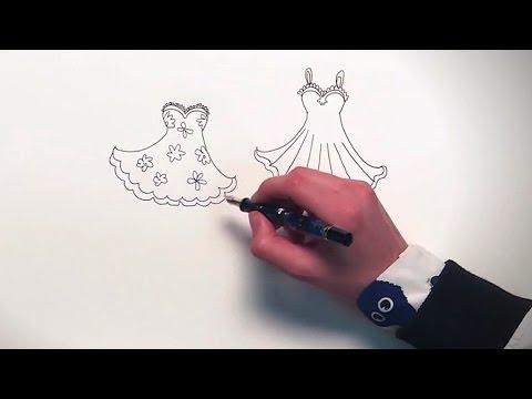 Fonkelnieuw Jill - DIY: Hoe teken je een jurkje? - YouTube DY-49