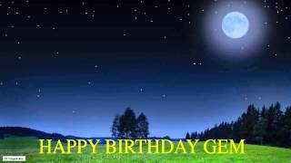 Gem  Moon La Luna - Happy Birthday