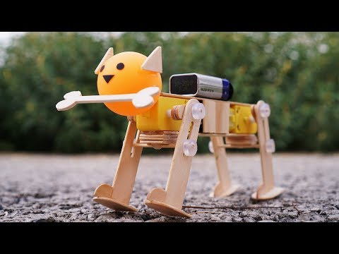 How To Make Robotic Dog Using DC Motor At Home