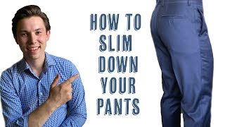 Taking In The Cr๐tch Seam   Slimming Your Pants
