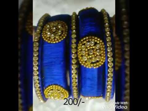 Silk thread bangles at low price