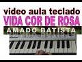 vida cor de rosa amado batista vídeo aula teclado