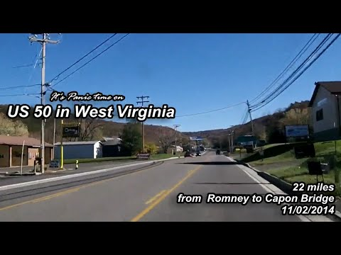 US 50 in West Virginia - from Romney to Capon Bridge