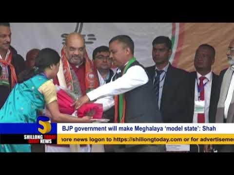 BJP government will make Meghalaya 'model state': Shah