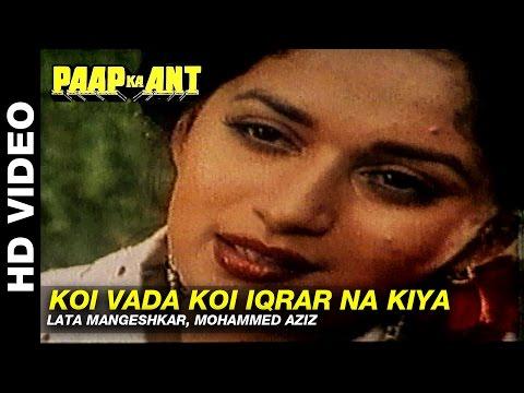 Koi Vada Koi Iqrar Na Kiya - Paap Ka Ant | Lata Mangeshkar, Mohammed Aziz | Govinda & Madhuri Dixit