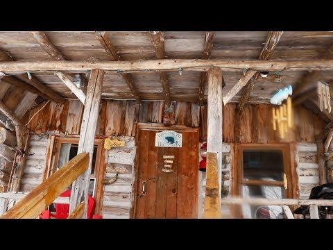 Log Cabin Doorway | Visiting Terry's Off Grid Cabin