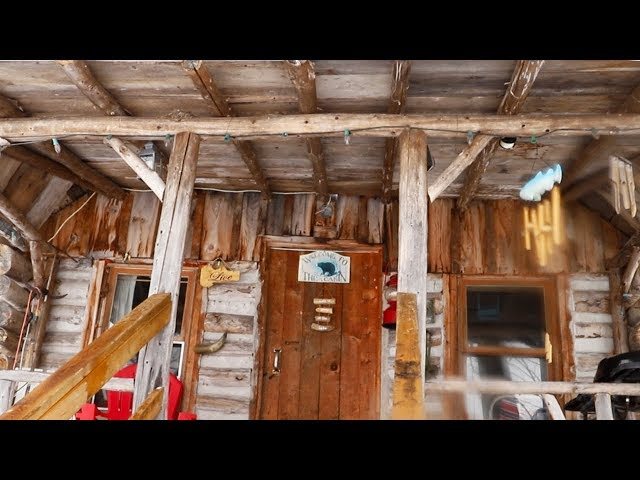 Log Cabin Doorway | Visiting Terry's Off Grid Cabin