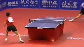 Table Tennis - Big points in Attack (WANG Hao) Vs Defense (JOO Se-Hyuk))