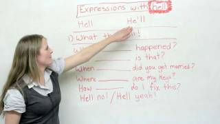 Slang in English: 'What the hell' and other HELL expressions