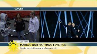 Succébröderna Marcus och Martinus gästar Sverige - Nyhetsmorgon (TV4)