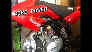SSR 125 AIR & FUEL FILTER UPGRADE | Pit Bike