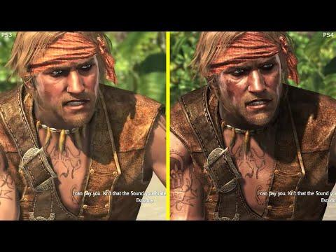 Assassin S Creed 4 Black Flag Ps3 Vs Ps4 Graphics Comparison