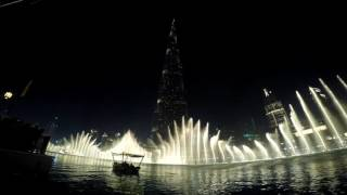 Dubai  Fountain on 45th National Day