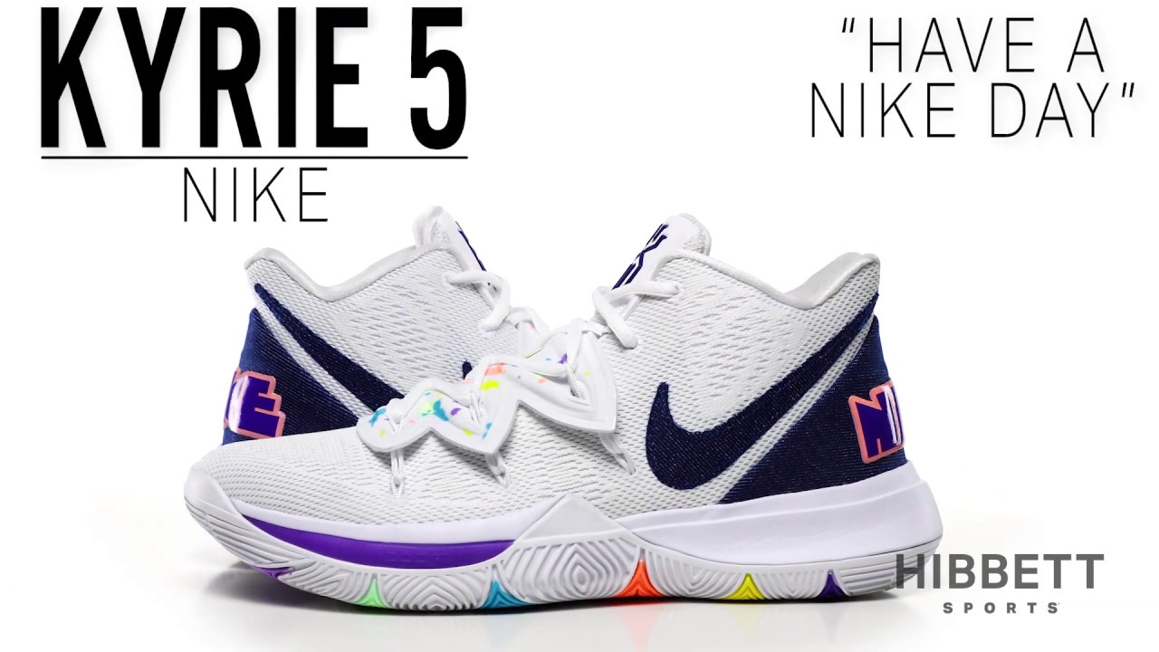 """14b8d4b4a9e Sneaker Release: Nike Kyrie 5 """"Have a Nike Day"""" Basketball Shoes"""