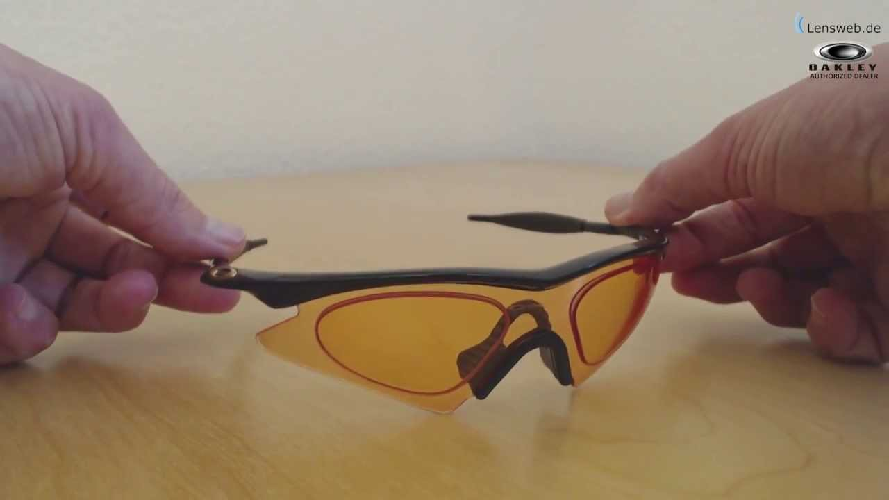 Oakley M Frame - Sweep - Jet Black - Persimmon - YouTube