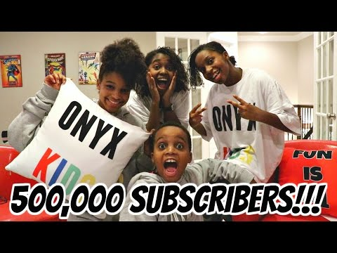 500,000 Subscriber LIVE STREAM PARTY! - Onyx Kids