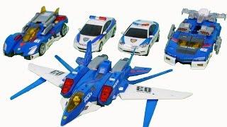 토미카 하이퍼 소닉 비행기 합체 또봇 헬로카봇 경찰차 장난감 Tomica Tobot  Hello carbot Police car toys