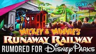 Mickey & Minnie's Runaway Railway RUMORED for Disneyland & Disneyland Paris - Disney News - 1/15/19