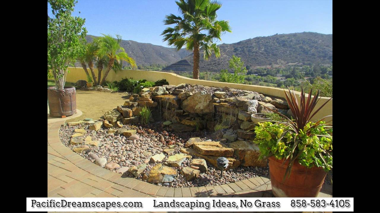 Landscaping Ideas With No Grass Landscaping Ideas No Grass : how to xeriscape a yard with no grass - YouTube