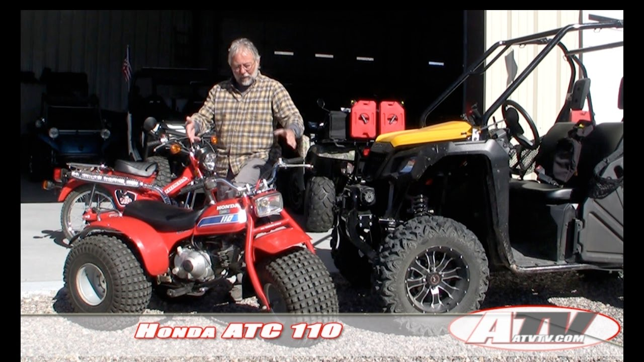 ATV Television Low & Slow Test - Honda ATC 110  The granddaddy of the ATV  craze
