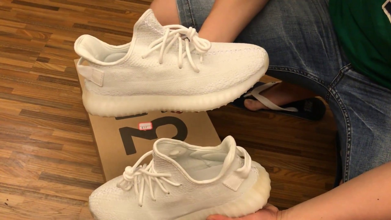 9ee56229f3a 2017 HOTTEST NEW UA ADIDAS YEEZY BOOST 350 V2 CREAM WHITE TRIPLE WHITE UNBOXING  REVIEW. Shoes Gather