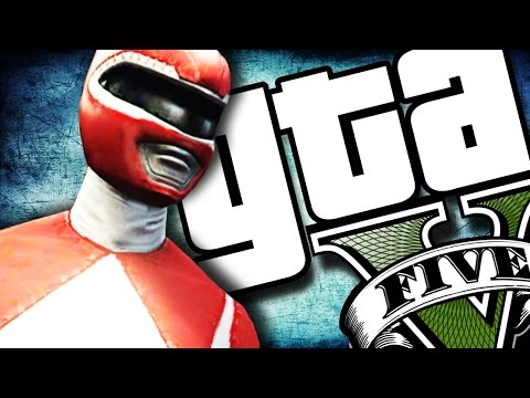 GTA V PC - Power Rangers GROSSO! (MODS)