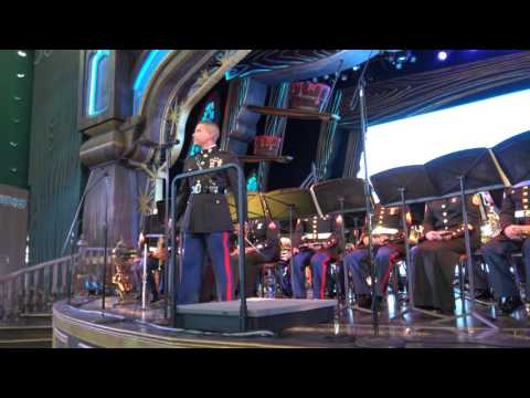 [4K] The Third Marine Aircraft Wing Band at Disneyland July 4, 2016