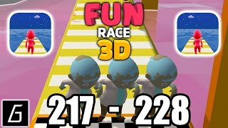 Fun Race 3D - Gameplay - Levels 217 - 228 + Bonus Levels (iOS - Android)