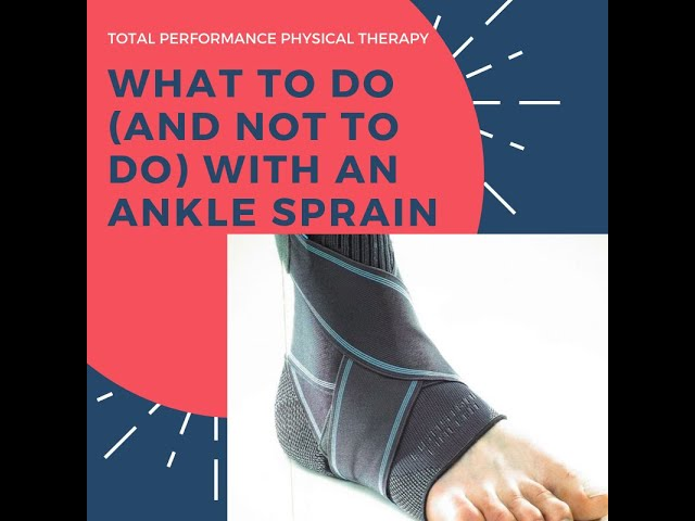 What to do (and not to do) with a nagging ankle injury