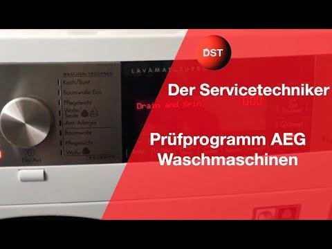 Prüfprogramm AEG Waschmaschinen, Zusammenfassung der gängigsten Modelle