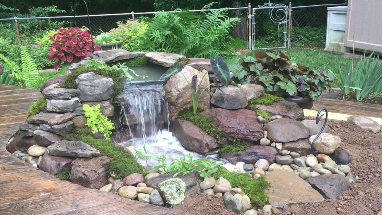 Small Backyard Waterfall | Water Gardens Baltimore | Water ... on Waterfall Ideas For Garden id=96130