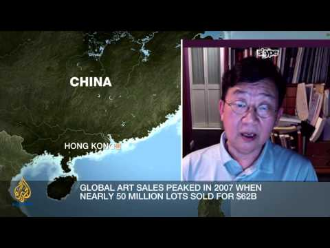 What is driving global art sales?