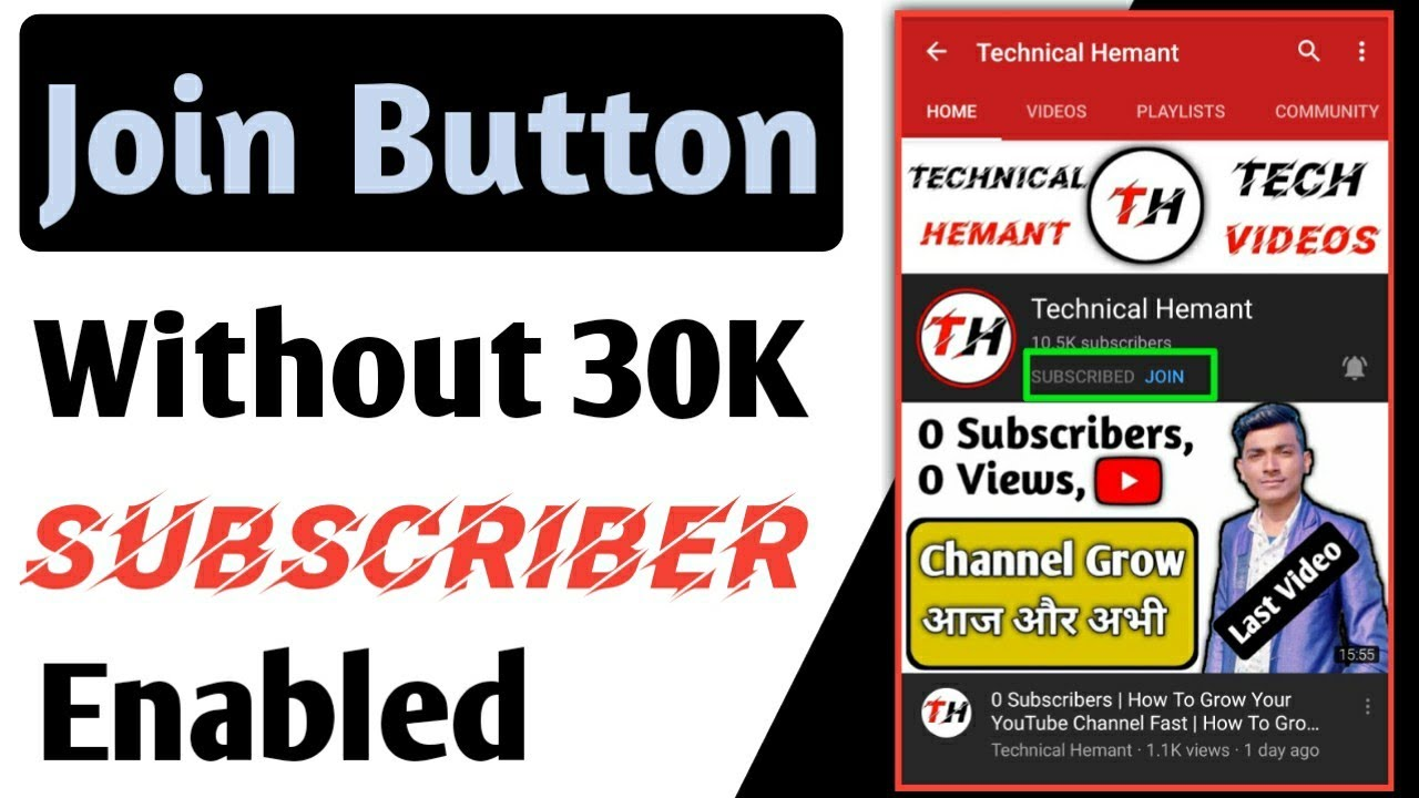 How To Enable Join Button Without 30K Subscribers | How To Get Join Button On YouTube |