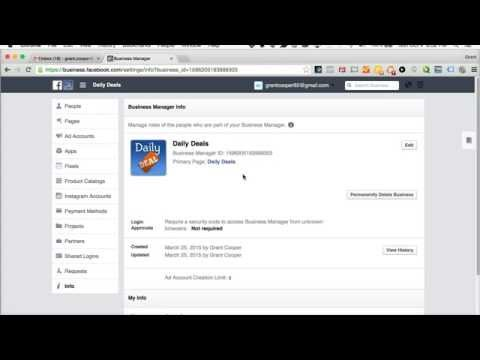 How To: Find your Facebook Business Manager's ID Number