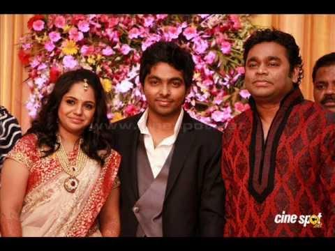 G V Prakash Ar Saindhavi Marriage Reception Video